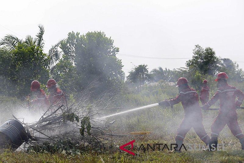 Kebakaran lahan di Ogan Ilir hanguskan lahan seluas dua hektare