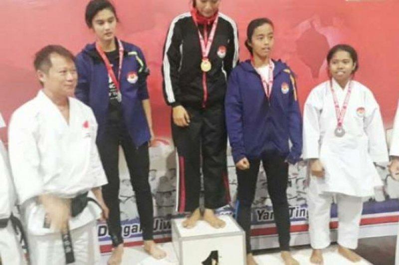 Anak Jefry Noer Juara II Kejurnas Karate Shoto-Kai di NTT