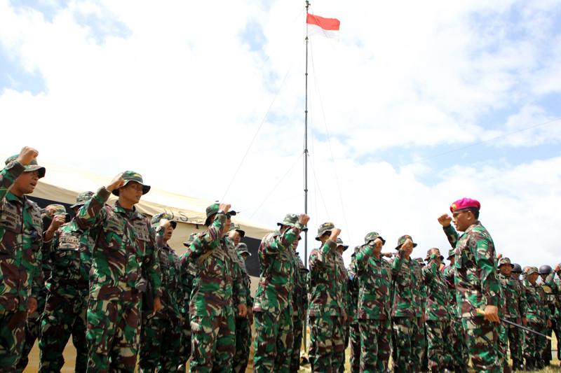 Latihan Penyamaan Persepsi Prajurit Marinir