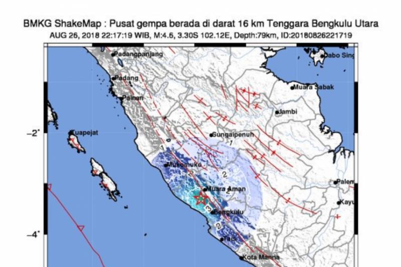 Gempa 5 4 Sr Guncang Kota Bengkulu Antara News Kalimantan Utara