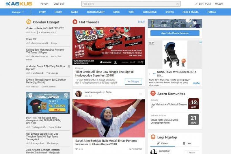 Kaskus Ubah Tampilan Halaman Utama Antara News Kalimantan Barat