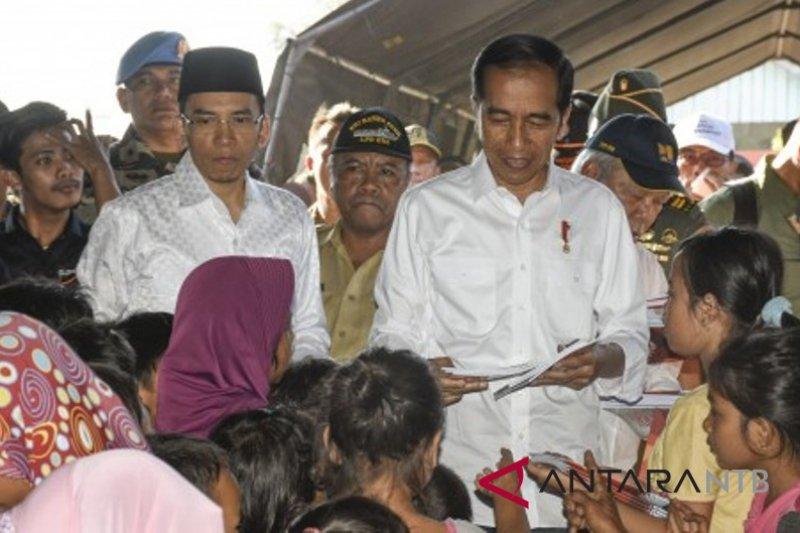 Menghilangkan trauma korban gempa Lombok