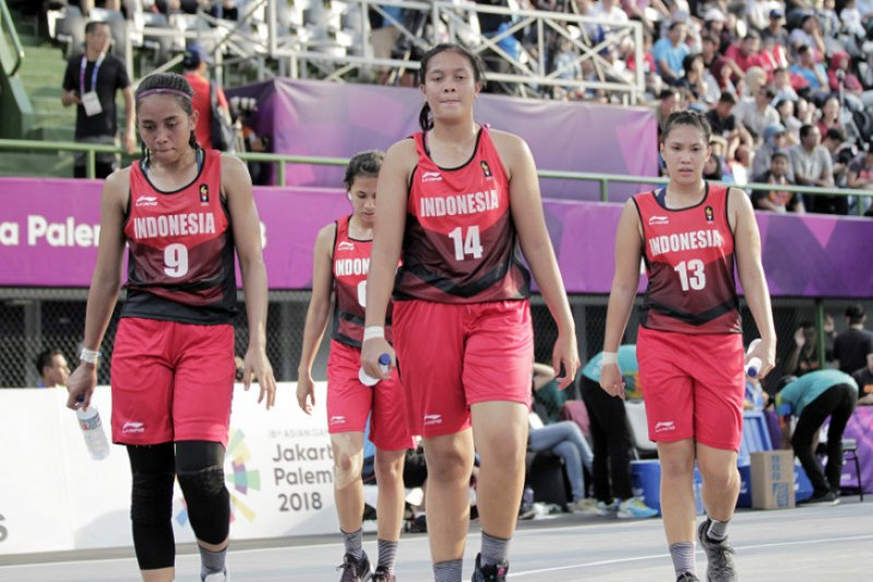 Timnas Basket 3x3 Putri latihan dengan prokes ketat