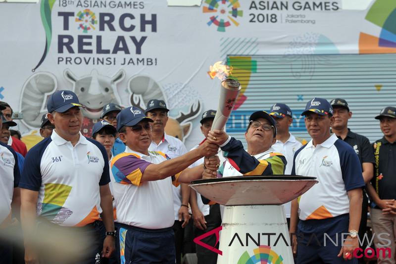 Kirab Obor Asian Games 2018 Di Jambi