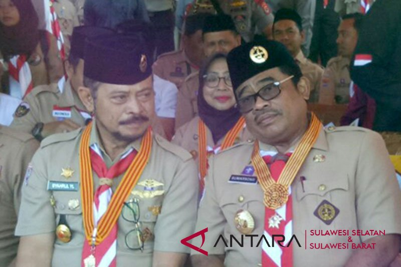 """Penjabat Gubernur Sulsel dorong """"rebranding"""" gerakan Pramuka"""