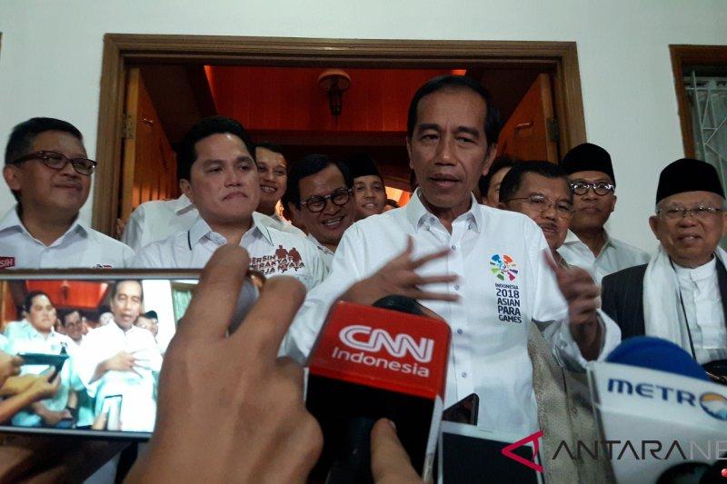 Jokowi bilang pendekatan kepada Erick Thohir sebelum Asian Games 2018