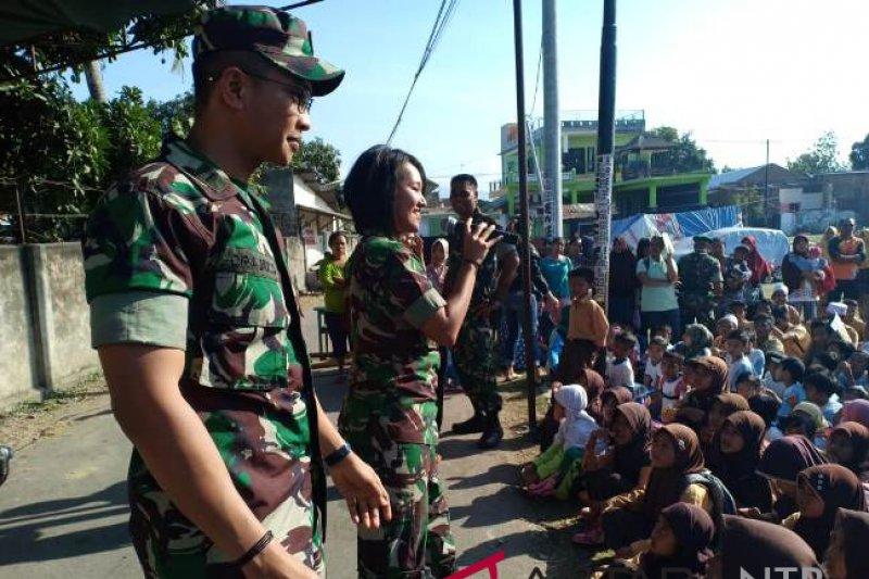 Ribuan anak Lombok ikuti trauma healing oleh TNI