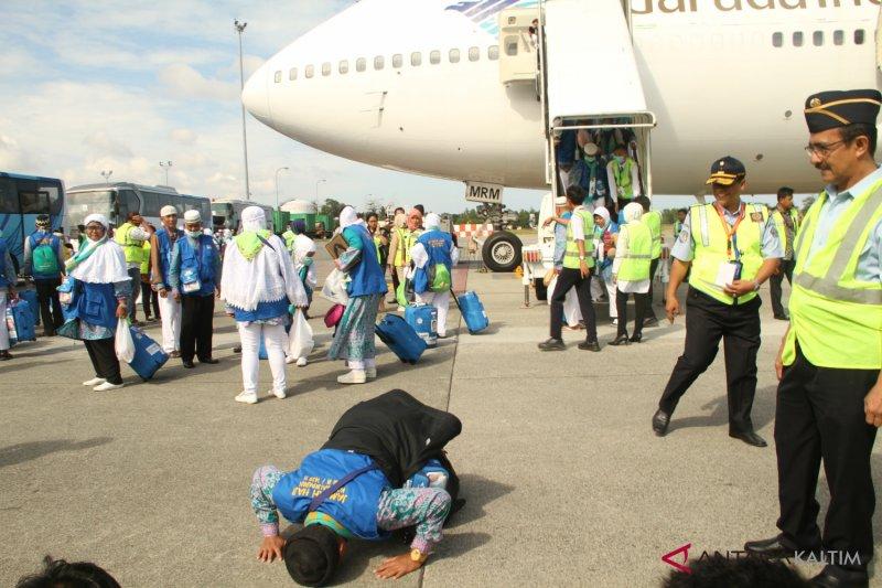 Kloter pertama jamaah haji tiba di Tanah Air