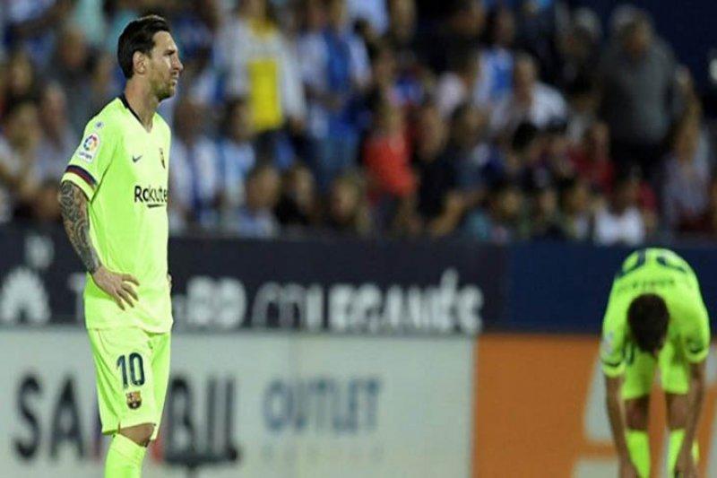 Barcelona dipermalukan Leganes 2-1