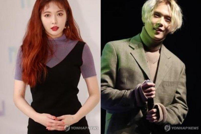 Cube Entertainment mengeluarkan HyunA dan E'Dawn Pentagon