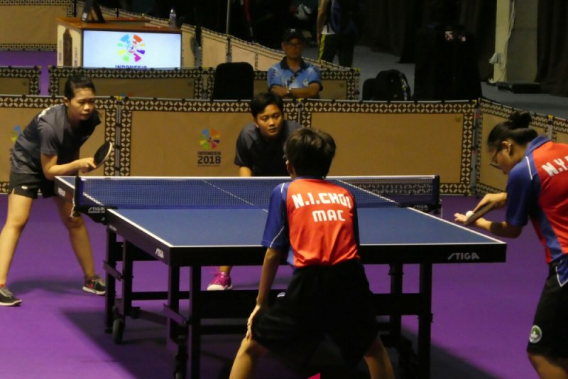 Ana dan Lola raih perak di nomor beregu tenis meja