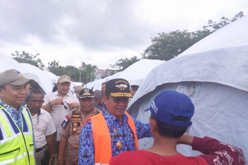 Gubernur kunjungi Donggala, huntara untuk warga yang rumahnya hancur total