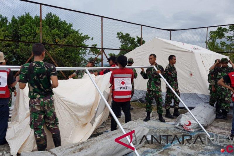 TNI AD dirikan hunian sementara pengungsi di Palu
