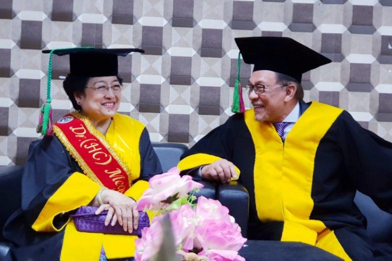 Megawati menyatakan miliki persamaan perjalanan politik dengan Anwar Ibrahim