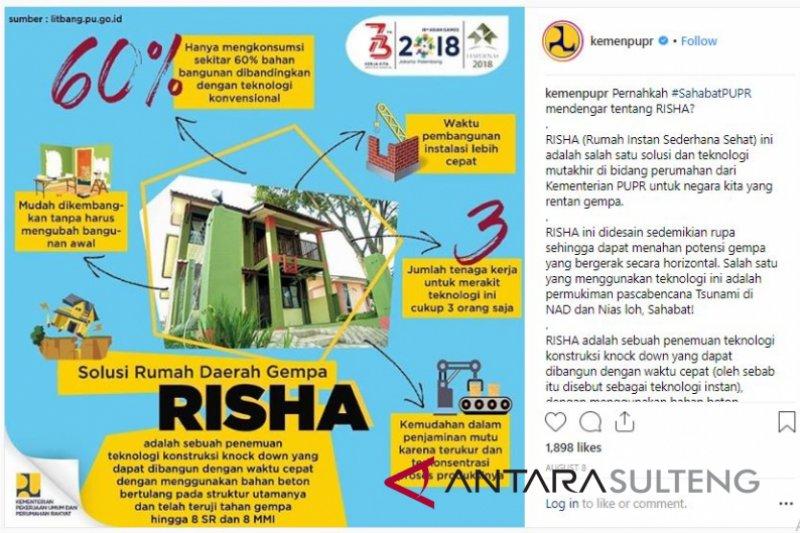 "Kementarian PUPR akan bangun ""Risha"" di Sulteng (vidio)"