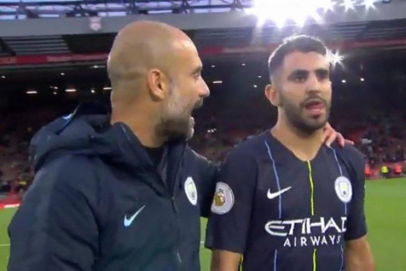 Guardiola istirahatkan Mahrez karena obat yang dikonsumsinya