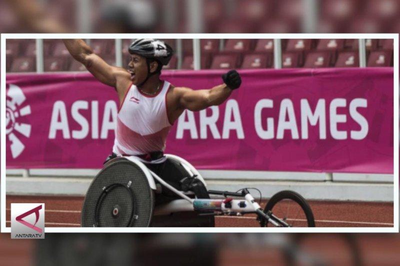 Jaenal Aripin tambah perak dari balap kursi roda