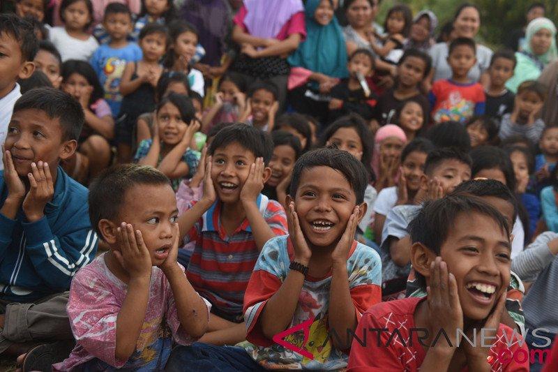 Anak-anak Lombok kembali bersemangat