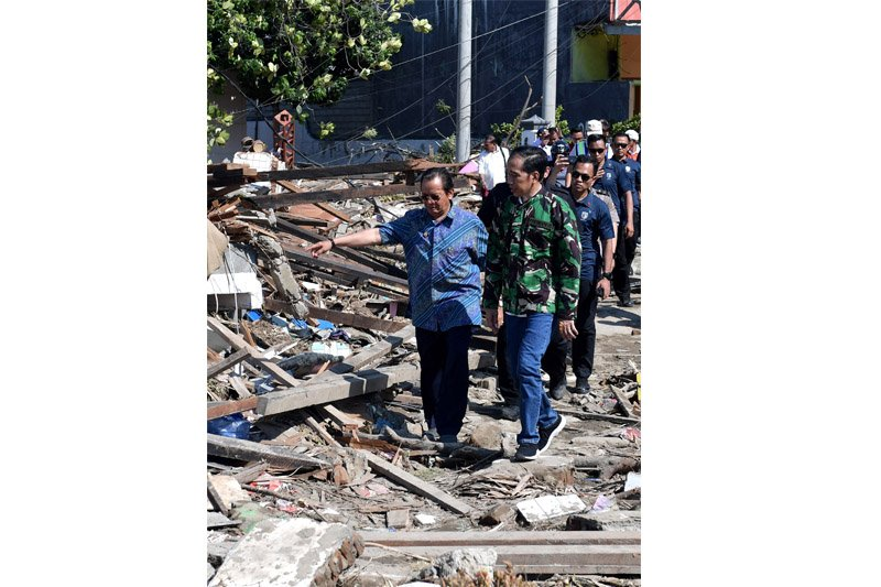 Jokowi: Bantuan makanan akan dikirim sebanyak-banyaknya