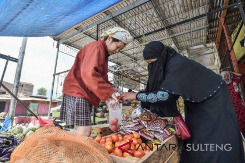 Aktivitas Pasar Manonda Palu kembali pulih