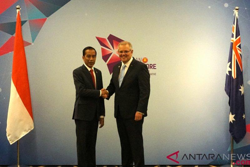 Presiden temu bilateral dengan PM Australia
