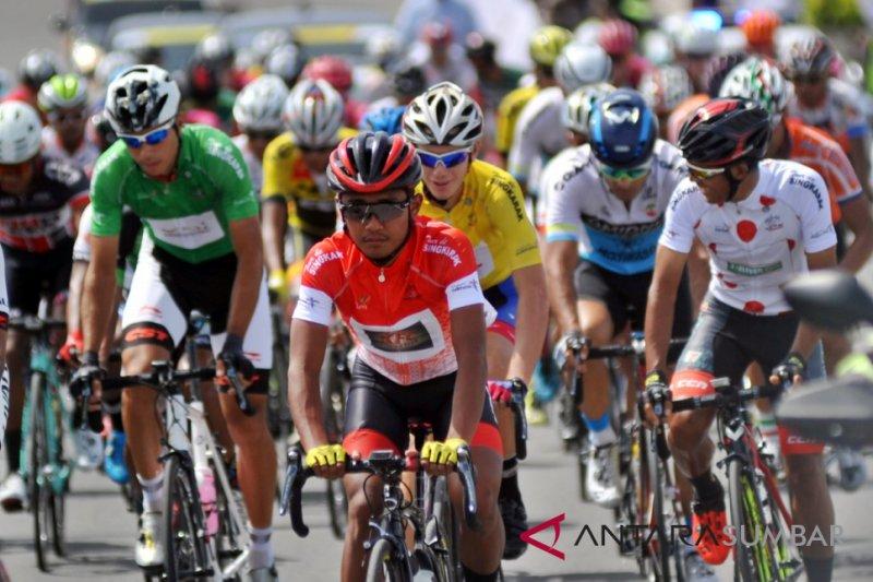 Jalan Etape VII Tour de Singkarak masih berbahaya untuk pebalap