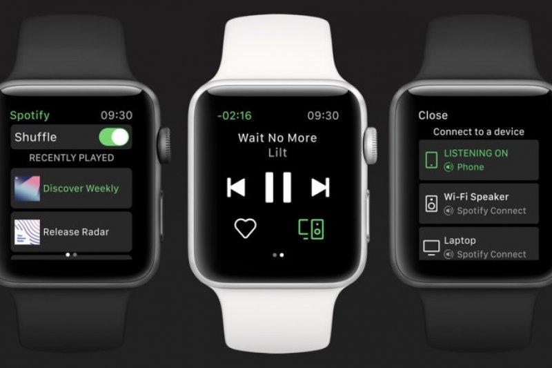 Spotify resmi mendarat di Apple Watch