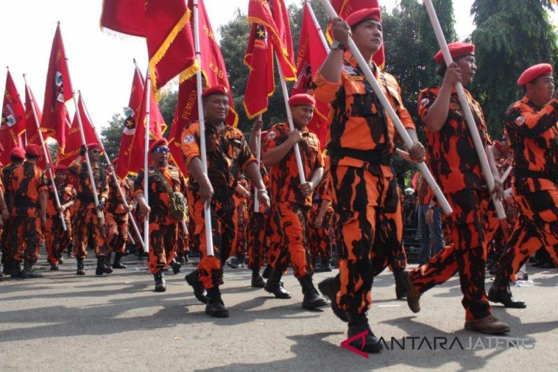 Ribuan anggota  Pemuda Pancasila Jateng tapak tilas