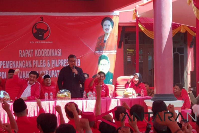 Rombongan Safari Kebangsaan PDIP tiba di Bekasi