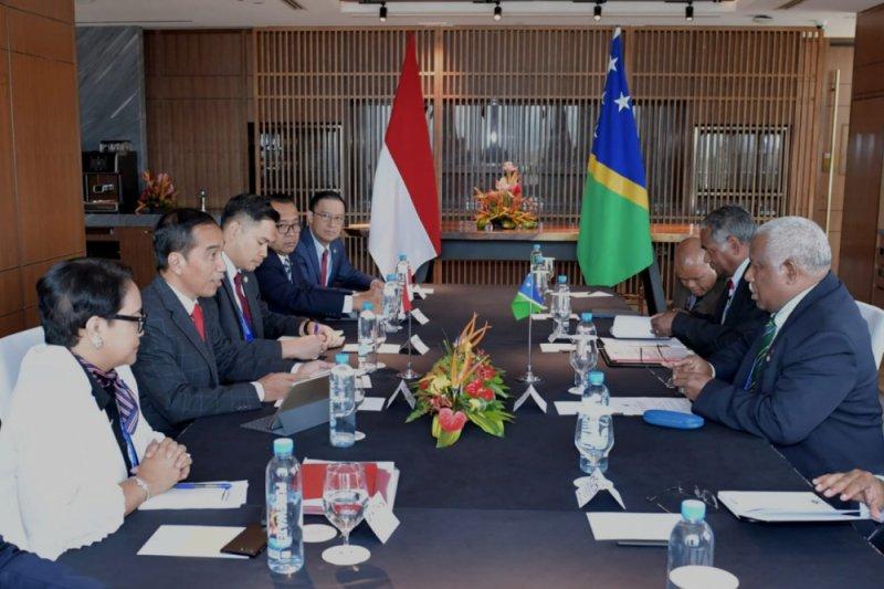 Presiden lakukan pertemuan bilateral dengan PM Kepulauan Solomon