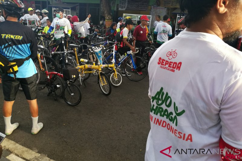 Dipadukan bersama jalan sehat, Sepeda Nusantara 2018 Bantaeng disambut antusias