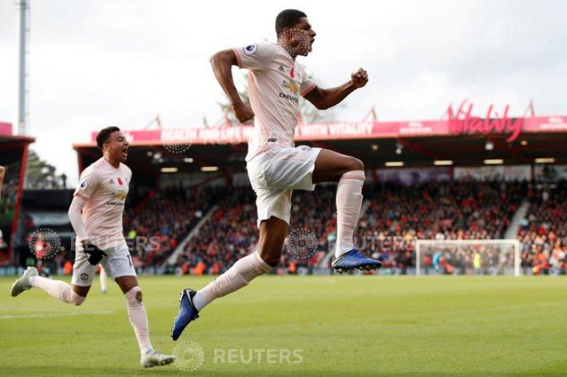Manchester United menang 2-1 atas Bornemouth