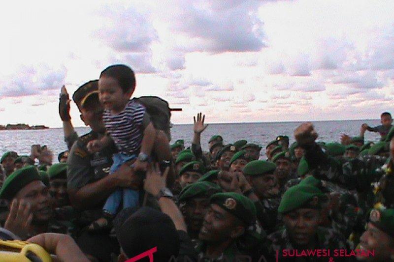 Pangdam Hasanuddin terima pasukan penanganan bencana Lombok-Palu