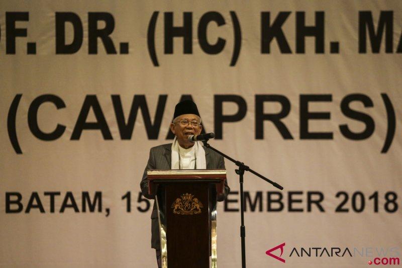 Ma`ruf Amin ingin bangun ekonomi umat kuat