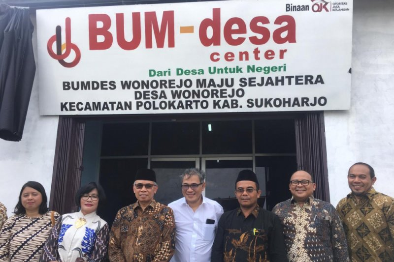 OJK resmikan Badan Usaha Milik Desa (BUMDes) Center Maju Sejahtera Desa Wonorejo