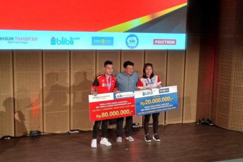 Juara Bulu Tangkis Dunia Junior 2018 diguyur bonus