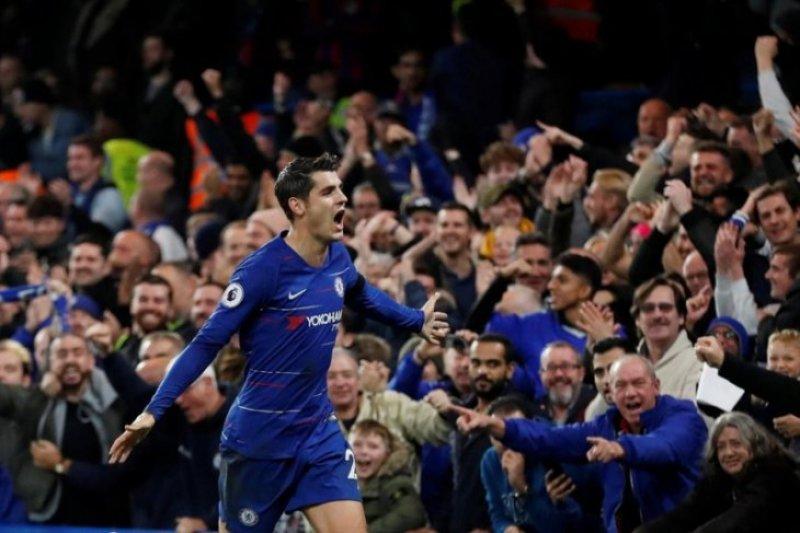 Chelsea taklukkan Palace, Morata sumbang dua gol