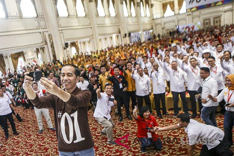 Presiden Jokowi hadiri peringatan HUT Ke-46 PDIP