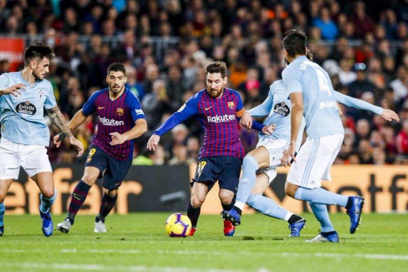 Messi dan Dembele bawa Barcelona menang mudah atas Celta Vigo