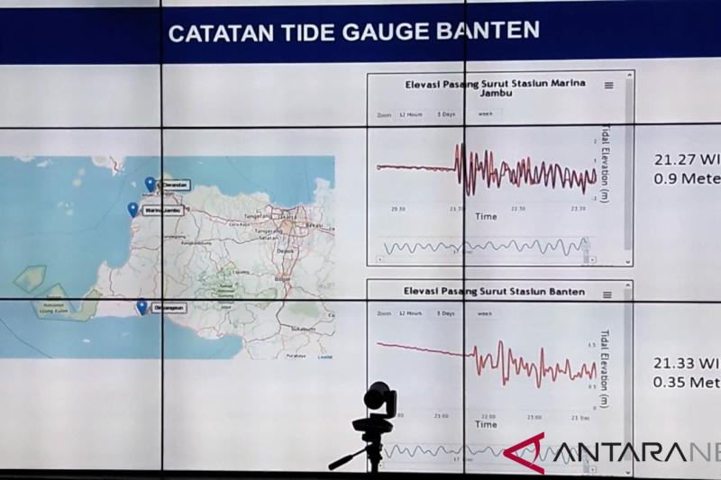 BMKG: Tsunami diduga dipicu aktivitas vulkanik