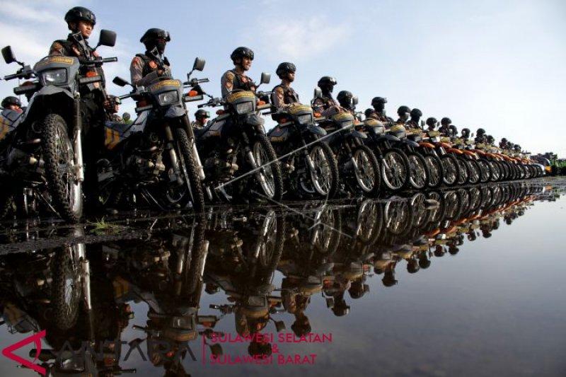 Gelar pasukan TNI-Polri untuk pengamanan empat kegiatan