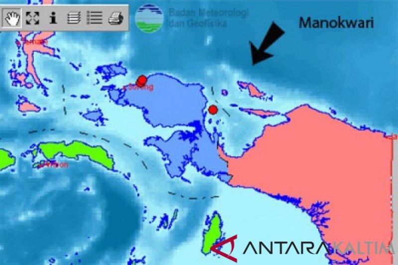 Gempa 3,7 SR guncangan kabupaten Manokwari