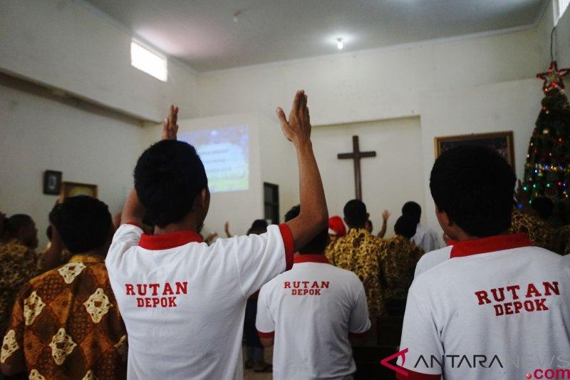 Misa Natal di Rutan Cilodong Depok