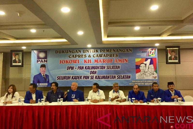 DPW PAN Kalsel deklarasi dukung jokowi-Ma'ruf