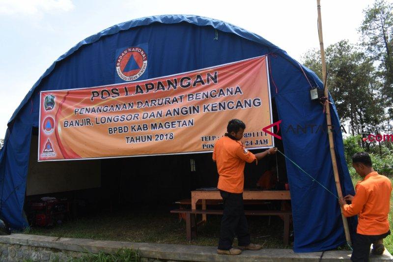 Pos penanganan darurat bencana didirikan BPBD Magetan