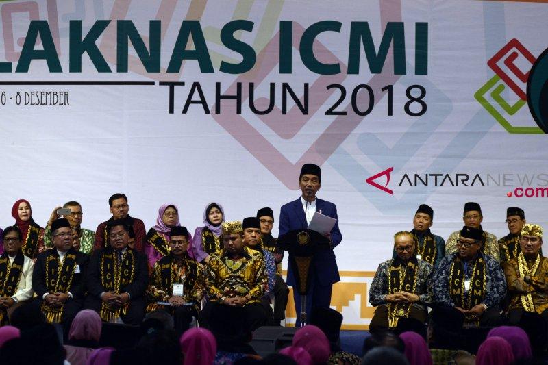 Presiden : ICMI berikan pencerahan tentang pentingnya persatuan