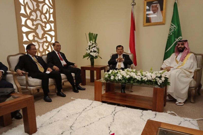 Wapres bertemu Putra Mahkota Arab Saudi di Argentina