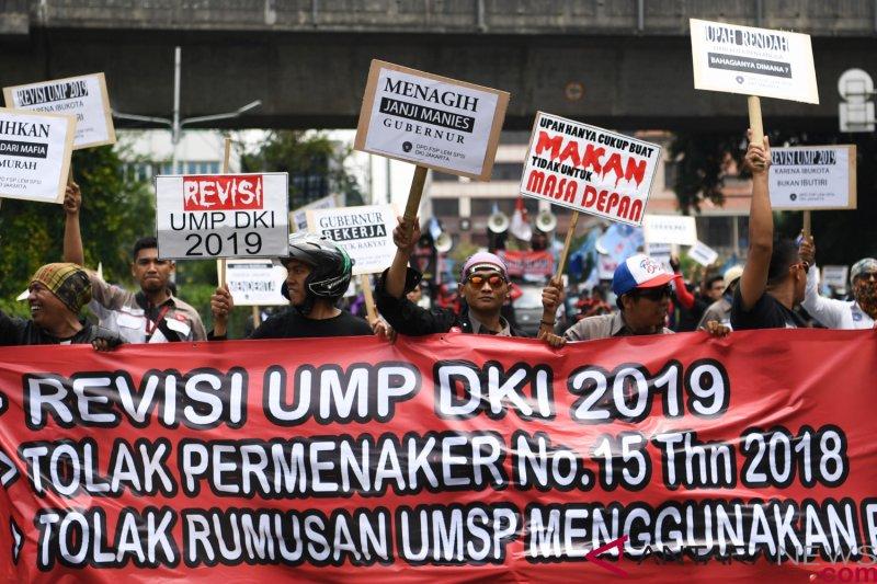 Serikat pekerja tetap tolak kenaikan upah karena masih mengacu PP 78/2015