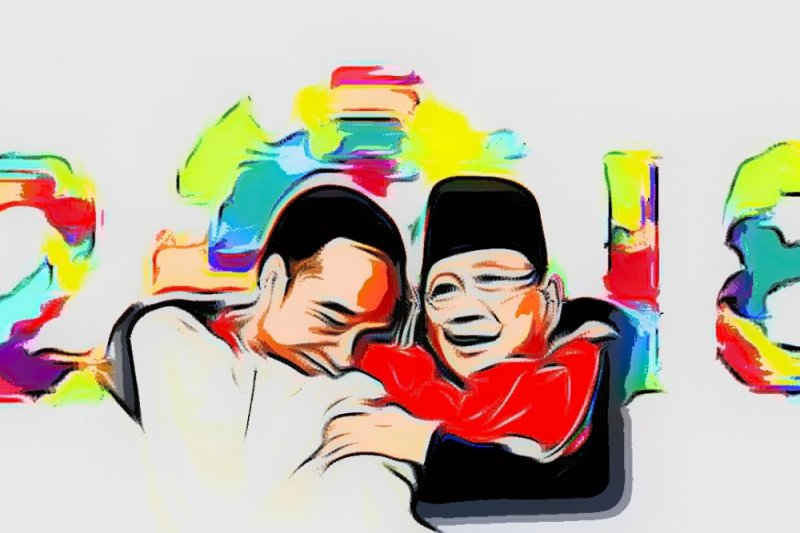 Relawan Jokowi - Prabowo gelar pertandingan persahabatan