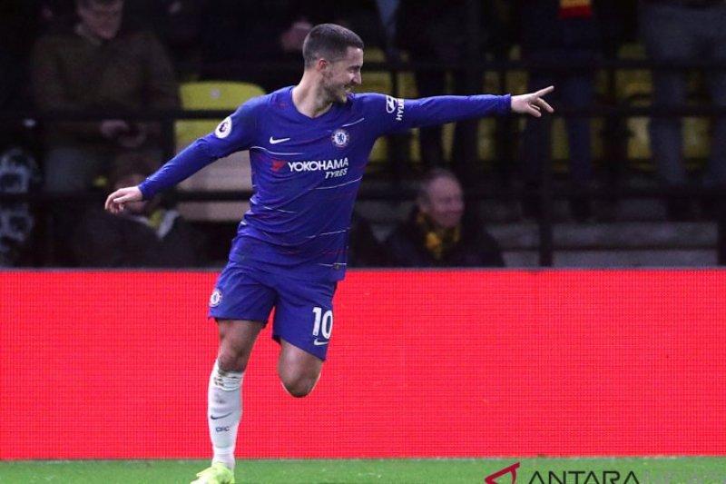 Chelsea kalahkan Watford berkat Hazard